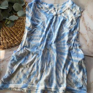 EUC- Free people movement blue tie dye tank-Size L